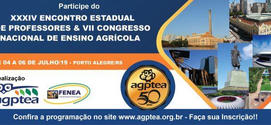XXXIV Encontro Estadual de Professores e VII Congresso Nacional de Ensino Agrícola